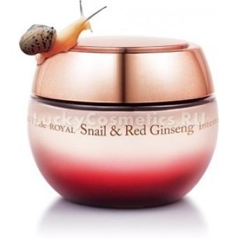 Крем для лица с муцином улитки The Saem Beaute de Royal Snail & Red Ginseng Intense Cream