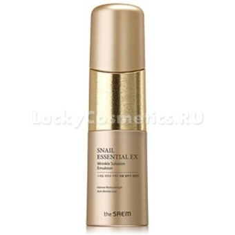 Улиточная антиэйдж эмульсия The Saem Snail Essential EX Wrinkle Solution Emulsion