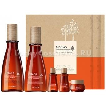 Набор омолаживающих средств The Saem Chaga Anti-wrinkle Skin Care 2 Set