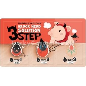 Трехшаговый набор для очищения кожи носа Elizavecca Black Head Solution 3 Step