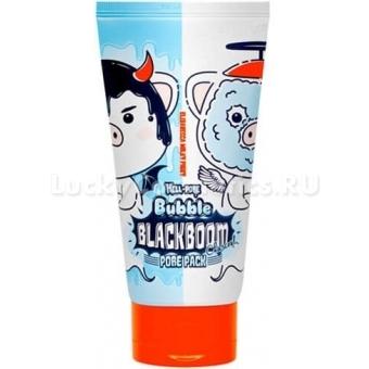 Очищающая кислородная маска Elizavecca Hell-Pore Bubble Black Boom Pore Pack