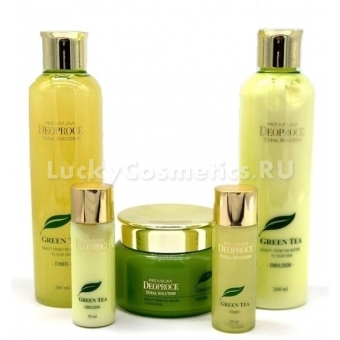 Набор для лица уходовый Deoproce Premium Green Tea Total Solution Skin Care 5 Set