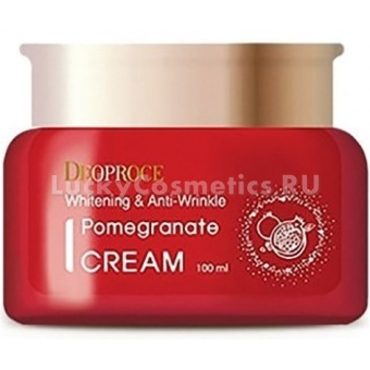Крем для лица антивозрастной с экстрактом граната Deoproce Whitening and Anti-Wrinkle Pomegranate Cream