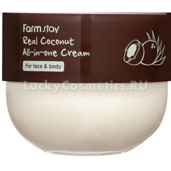 Крем для лица и тела с экстрактом кокоса FarmStay Real Coconut All-In-One Cream
