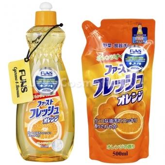 Жидкость для мытья посуды Funs Orange Жидкость для мытья посуды овощей и фруктов