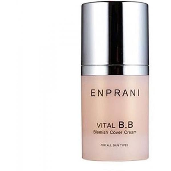 Enprani Vital BBКрем от корейского бренда Enprani – косметическое средство, одновременно выполняющее несколько функций: скрывает недостатки, дарит увлажнение, успокаивает кожу. Нежная структура позволяет средству равномерно ложиться на кожу, выравнивая ее тон. ББ-крем идеально подойдет для чувствительной, подверженной влиянию внутренних и внешних факторов, кожи. В его составе содержится экстракт листьев алоэ вера, обладающий противовоспалительным и заживляющим действиями. Этот компонент оказывает успокаивающие влияние на атопичную и гиппер-чувствительную кожу.<br><br>Редкий экстракт коры магнолии, широко используемый в восточной медицине, обеспечивает защиту кожи от солнца, снимает воспаления. Увлажнение и питание коже дарит экстракт хлореллы в составе косметического продукта. Он делает ткани эластичными и усиливает барьерные функции дермы. Дуэт экстрактов розмарина и корня пуэрарии препятствуют появлению признаков преждевременного старения, повышают тонус кожи и создают изумительный эффект лифтинга.<br><br>После нанесения ББ-крема лицо выглядит посвежевшим и отдохнувшим. Легкая концентрация продукта позволяет наносить его гарантированно равномерно. Революционный крем не оставляет дискомфорта от ощущения стянутости или липкости.Объём: 50 млСпособ применения:Средство наносится неторопливыми аккуратными движениями на очищенную сухую кожу лица.<br>