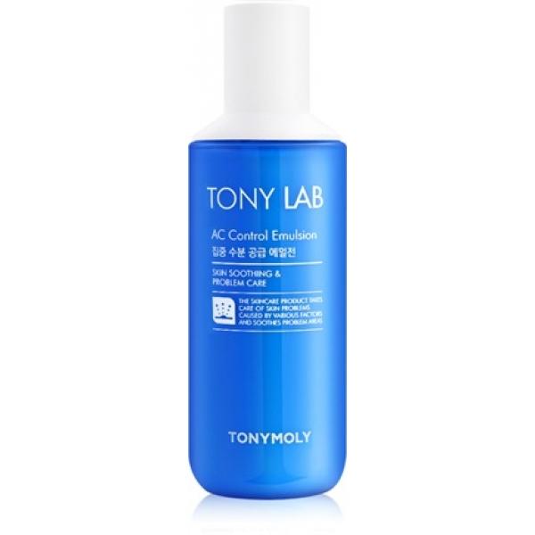 Tony Moly Tonylab AC Control EmulsionЭта эмульсия является незаменимым средством для обладательниц комбинированного и жирного типа кожи, которые склонны к образованию высыпаний. Продукт имеет легкую ультравпитываемую текстуру, которая не оставляет неприятной пленки даже на самой жирной коже. Эмульсия оказывает прекрасное противовоспалительное и себорегулирующее влияние, благодаря которым количество акне заметно снижается, рельеф кожи выравнивается и исчезает проблема постоянного жирного блеска Т-зоны. Наличие в составе гиалуроновой кислоты, растительного комплекса и кератинов обеспечивают также прекрасное увлажняющее и восстанавливающее действие. В результате ежедневного применения продукта внешний вид кожи очевидно улучшается &amp;ndash; ее поверхность выравнивается, сужаются поры, а от недостатков не осталось и следа! Станьте обладательницей ухоженной и красивой кожи, используя эмульсию Tonylab AC Control Emulsion корейского бренда Tony Moly!<br><br>&amp;nbsp;<br><br>Объём: 130 мл<br><br>&amp;nbsp;<br><br>Способ применения:<br><br>Продукт необходимо наносить на кожу нежными движениями до полного впитывания после вечернего и утреннего умывания.<br>