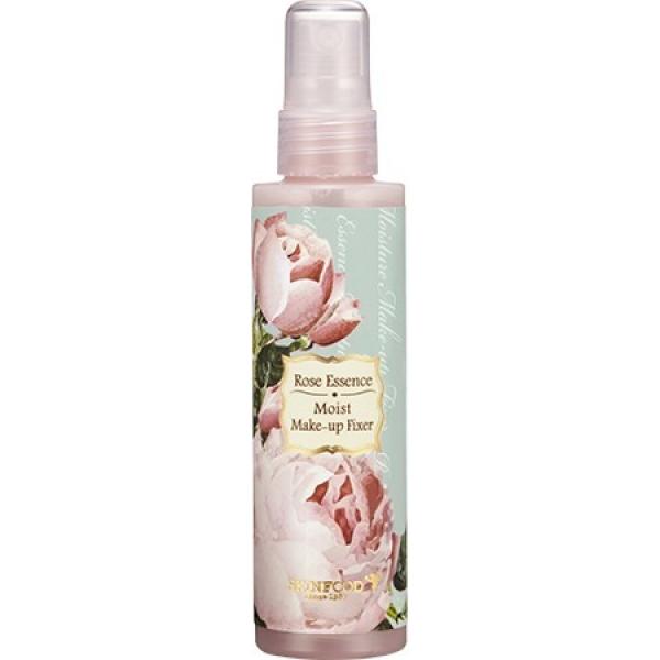 Skinfood Rose Essence Moist Make Up FixerЧтобы сохранить свежесть и стойкость макияжа, необходимо эффективное защитное покрытие. Rose Essence Moist Make Up Fixer превосходно справляется с этой задачей. Он невесомым напылением ложится на кожу, не препятствуя ее дыханию.<br><br>Фиксатор не только сохраняет макияж в аккуратном виде в течении всего дня, но и обеспечивает коже бережный уход и ровный тон лица. Кроме того, он не оставляет следов на одежде и остальных вещах. Компактная баночка (80ml), дает возможность носить ее с собой в косметичке, не испытывая недостаток места.<br><br>Экстракт розы, содержащийся в средстве, способствует процессам регенерации клеток, хорошо увлажняет сухую кожу, в результате чего она выглядит молодо и свежо.<br><br>&amp;nbsp;<br><br>Объём: 80 мл<br><br>&amp;nbsp;<br><br>Способ применения:<br><br>После нанесения макияжа, распылить спрей с расстояния 25 см на лицо, глаза при этом закрыть.<br>