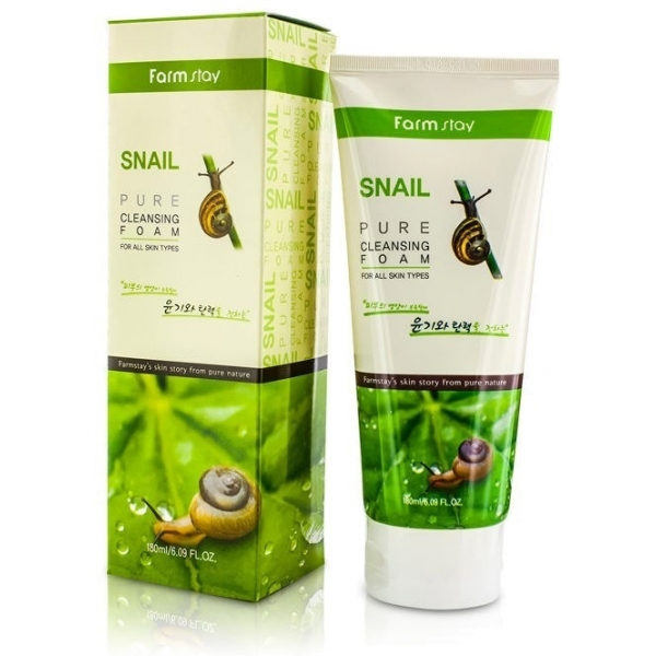 Купить FarmStay Snail Pure Cleansing Foam