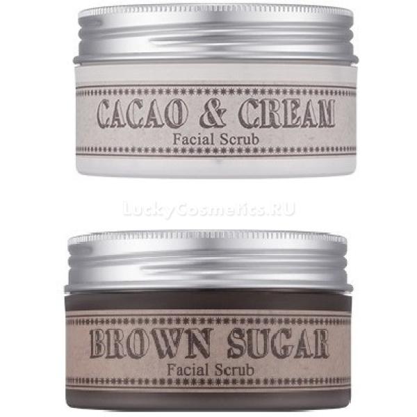Missha Facial ScrubСкрабы серии Missha Facical Scrub мягко очищают кожу, удаляют ороговевшие клетки и делают кожу эластичной и бархатистой. В серии представлены два скраба: Brown Sugar Facial Scrub (Скраб с коричневым сахаром) и Cacao &amp;amp; Cream Facial Scrub (Скраб с какао). Скраб с коричневым сахаром эффективно отшелушивает омертвевшую кожу, а масла в его составе (оливковое и подсолнечное) увлажняют ее. Скраб с какао, помимо отшелушивающего и увлажняющего действия, борется с признаками старения кожи.<br><br>&amp;nbsp;<br><br>Объём: 70 мл<br><br>&amp;nbsp;<br><br>Способ применения:<br><br>Продукт необходимо использовать на влажной коже лица и массажными движениями распределять в течение пары минут, а затем удалить его при помощи воды.<br>