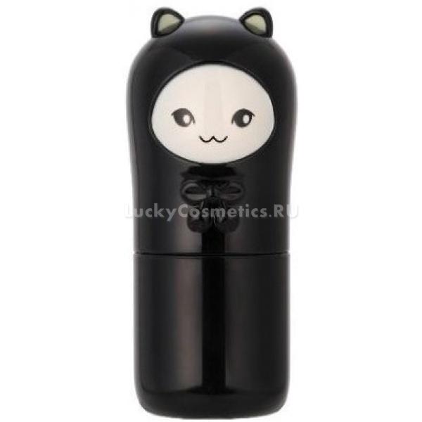 Tony Moly Cats Wink TokTok Stick BalmПрозрачный увлажняющий бальзам для лица Cats Wink TokTok Stick Balm от Tony Moly тает на коже и равномерно увлажняет ее, препятствуя возникновению шелушений и воспалений, контролирует выделение себума, обеспечивая матирование кожи на целый день. Благодаря компактной упаковке со стильным дизайном в виде ушастой черной кошечки, стик можно везде брать с собой и использовать в подходящей ситуации.<br><br>Активные компоненты стика Cats Wink Tok Tok Stick Balm<br><br><br>Аргановое масло &amp;ndash; содержит жирные кислоты, которые необходимы для нормального метаболизма в клетках кожи и токоферол &amp;ndash; витамин молодости, который смягчает кожу и питает ее.<br>Масло макадамии &amp;ndash; способствует увлажнению и питанию кожи, используется для лечения купероза, аллергии (в том числе и фотодерматита &amp;ndash; аллергии на солнце) и ожогов.<br>Масло оливы &amp;ndash; рекомендуется для ухода за зрелой кожей, которая страдает от недостатка витаминов. Нормализует водный и минеральный баланс клеток кожи, способствует обновление клеток.<br>Отсутствуют в составе: силикон, тальк, парабены, бензофенон, искусственно синтезированные красители, согласно файв-фри формуле.<br><br><br>&amp;nbsp;<br><br>Объём: 8 г<br><br>&amp;nbsp;<br><br>Способ применения:<br><br>Стик наносят на кожу лица непосредственно из флакона, не касаясь его пальцами, чтобы не занести бактерий и загрязнений. Средство от прикосновения с кожей тает, равномерно распределяясь по ее поверхности. Стик подходит для использования и на сухих участках кожи, и на участках с повышенной активностью сальных желез. Это делает средство идеальным для использования на коже комбинированного типа.<br><br>Стик для лица используют для экстренного увлажнения кожи в условиях, когда нет возможности провести полноценную уходовую процедуру. Увлажнение сухих участков кожи после долгого пребывания в пересушенных помещениях, на улице в морозную или ветреную погоду. Особенно чувствительными к воздействию 