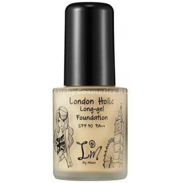 Mizon London Holic Longgel FoundationТональный крем-гель London Holic Long-gel Foundation можно использовать и как самостоятельное средство и как базу под макияж. Благодаря своей мягкой структуре, тональный крем создает на поверхности кожи ровную тонкую пленочку. Невесомое, но тщательное покрытие справляется почти со всеми недостатками кожи, скрывая покраснения, мелкие высыпания, пост-акне, расширенные поры.<br><br>Как основа под макияж этот тональный гель может испоьзоваться, когда требуется более плотное покрытие, например для вечернего макияжа. В таком случае, спустя 3-5 минут после нанесения геля, можно нанести другое тональное средство или пудру.<br><br>Тональный крем-гель выполняет еще и ухаживающие функции, увлажняя и насыщая кожу питательными веществами - витаминами и растительными экстрактами.<br><br>Имеет идеальный сатиновый финиш, даря коже ровный, привлекательный вид. Тональное средство имеет высокий фактор защиты от УФ-излучения - SPF 30+ и спасает кожу от преждевременного старения под лучами солнца.&amp;nbsp;<br><br>Упаковка в стеклянном флакончике с помпой позволяет расходовать крем максимально экономично.<br><br>&amp;nbsp;<br><br>Объём: 30 г<br><br>&amp;nbsp;<br><br>Способ применения:<br><br>Небольшое количество тонального крема выдавить с помощью помпы и распределить по лицу легкими движениями, тщательно растушевывая кистью или пальцами.<br>