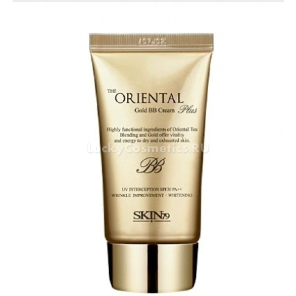 Skin The Oriental Gold Plus BB Cream SPF PA   tubeЛифтинговый ББ крем может быть использован при нанесении макияжа на любой из типов кожи. Средство имеет один универсальный светлый оттенок, способный слиться с естественным тоном лица. Продукт несмотря на плотную консистенцию и хорошее маскирующее действие не оставляет эффекта маски, дает ощущение чистоты и свежести.<br><br>Основными действующими ингредиентами ББ крема служат:<br><br>уникальные экстракты растений востока и икры, увлажняющие, восстанавливающие и питающие кожу;<br><br>пептидный комплекс, активизирующий обменные процессы и придающий дерме эластичность;<br><br>аденозин и арбутин, нейтрализующие пигментные пятна и прочие мелкие изъяны.<br><br>ББ крем обладает хорошо выраженным эффектом лифтинга, благодаря которому заполняются мелкие морщинки, а участки провисания кожи заметно подтягиваются. В результате регулярного использования средства лицевой контур становится более отчетливым, а возрастные изменения замедляются.<br><br>&amp;nbsp;<br><br>Объём: 40 гр<br><br>&amp;nbsp;<br><br>Способ применения:<br><br>ББ крем наносится на заранее очищенную и тонизированную кожу в небольшом количестве. Средство следует тщательно распределить по лицу и слегка вбить кончиками пальцев. Через несколько минут продукт станет незаметным, слившись с индивидуальным цветом кожи.<br>