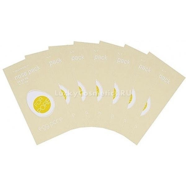 Tony Moly Egg Pore Nose Pack PackageМини-маски для проблемной кожи &amp;ndash; распространённый способ избавиться от многочисленных черных точек на разных участках лица, в особенности &amp;ndash; на носу, лбу и подбородке. Специалисты из Tony Moly для этого дополнили яичную серию косметических средств специальными полосками против черных точек Egg Pore Nose Pack Package.<br><br>В отличие от большинства собратьев, присутствующих в продаже у других брендов, эти полоски имеют белый цвет из-за наличия в них яичного белка, который, засыхая в комедонах, и является основным действующим компонентом средства.<br><br>Очищающие компоненты Egg Pore Nose Pack Package<br><br><br>Белый уголь &amp;ndash; мелкодисперсный силикатный песок, энтеросорбент четвёртого поколения, действующий лучше, чем черный уголь, состоящий из карбона. Связывает жир, прикрепляет головки комедонов на клейкую поверхность полоски.<br>Яичный белок &amp;ndash; живительная смесь аминокислот и протеинов, служащих строительным материалом для клеток и матрикса кожи. Высыхая, скрепляет стержни комедонов, что позволяет извлекать их полностью и без остатка. Также приносит пользу, доставляя витамины группы В, витамины С и D в верхние слои эпидермиса.<br>Экстракт ромашки &amp;ndash; оказывает антиаллергическое, противовоспалительное действие, заживляет повреждения и тонизирует размножение клеток. Благодаря нему разжижаются сальные пробки комедонов, а затем стягиваются освобождённые поры.<br>Экстракт камелии &amp;ndash; источник большого разнообразия активных веществ: полифенолов, танина, витаминов А, группы В, С, и Е, а также коэнзима Q10. Увеличивает потенциал энергетического обмена клеток, укрепляет их мембраны, особенно ценный для зрелой кожи, так как, не смотря на то, что Q10 вырабатывается организмом, со временем его синтез затормаживется.<br><br><br>&amp;nbsp;<br><br>Объём: 7 шт.<br><br>&amp;nbsp;<br><br>Способ применения:<br><br>После предварительного очищения кожи увлажните зону щёк и носа (можете также, при 