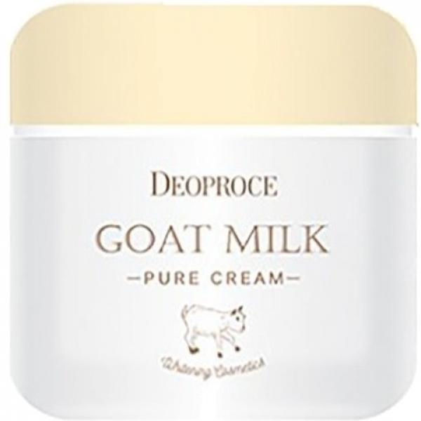 Deoproce Goat Milk Pure CreamАнтивозрастной крем Milk Pure богат протеинами, полученными из козьего молока, а также растительными экстрактами. Это позволяет осуществлять эффективный комплексный уход за кожей лица всех типов.<br><br>Средство марки Deoproce оказывает широкий спектр действий: глубоко увлажняет и питает кожу, наполняет ее необходимыми питательными веществами и протеинами. Козье молоко является уникальным продуктом, который позволяет поддерживать кожу в первозданном виде, бороться с возрастными изменениями и старением. Оно богато витаминами, макро- и микроэлементами, минералами. Помимо этого, после применения Goat Cream кожа становится заметно светлее, приобретает равномерный оттенок и становится мягче.<br><br>Также выполняется эффективная защита антиоксидантами от неблагоприятных факторов современной среды. Ликвидируются такие проблемы, как шелушение, сухость, нехватка влаги.<br><br>&amp;nbsp;<br><br>Объём: 50 гр.<br><br>&amp;nbsp;<br><br>Способ применения:<br><br>Немного средства необходимо нанести на чистую и сухую кожу. Мягкими движениями распределите крем по поверхности лица, двигаясь по массажным линиям. Для больше эффективности, слегка похлопывайте кожу.<br>