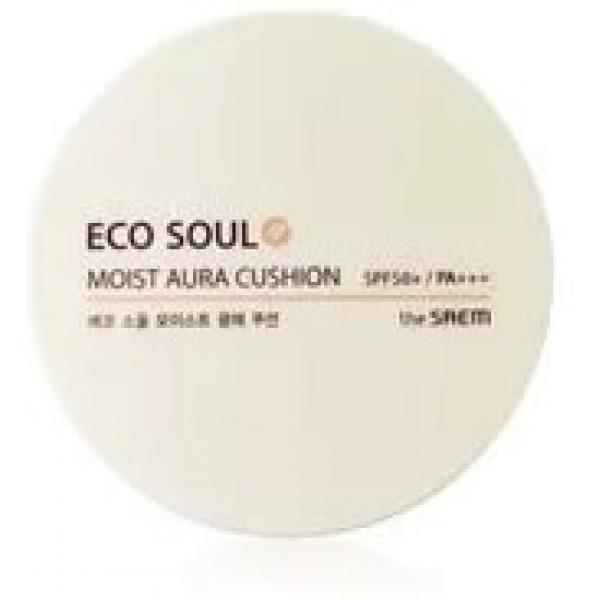 The Saem Eco Soul Moist Aura Cushion SPF PAТональный крем на основе натуральных природных компонентов, способный не только скрыть дефекты кожи и придать ей сияние и ровный, здоровый оттенок, но и восстановить оптимальный уровень влаги даже сухой, обезвоженной кожи.<br><br>Превосходный декоративный эффект крема обеспечивает входящий в состав жемчужный порошок &amp;ndash; он содержит светоотражающие частицы, а также способствует регенерации кожи, укрепляет и разглаживает, убирая мелкие морщинки и осветляя пигментные пятна.<br><br>Чрезвычайно высокий солнцезащитный фактор SPF50+/PA++++ помогает вашей коже получать от солнечных ванн только полезное, избавляя от таких неприятных последствий, как шелушение, раздражение, оксидация и фотостарение. Кожа выглядит и ощущается бархатистой и здоровой, с нежным блеском, который дарят ей измельченные до крохотных частиц минералы и драгоценные камни (рубин, турмалин, аметист и др.). А прекрасный уход за кожей обеспечивают входящие в состав тонального крема экстракты растений (тысячелистника, арники, ромашки), которые оказывают успокаивающее, противовоспалительное, восстанавливающее действие.<br><br>Увлажняющий комплекс на основе арганового масла устраняет дефицит влаги и оживляет уставшую кожу.<br><br>Главные компоненты крема &amp;ndash; аденозин и ниацин (никотиновая кислота) &amp;ndash; останавливают преждевременное старение и делают кожу более упругой и эластичной благодаря сосудорасширяющим и антиоксидантным свойствам,а также интенсивно регенерирующему действию.<br><br>Результат &amp;ndash; гладкая, свежая, сияющая и ухоженная кожа.<br><br>&amp;nbsp;<br><br>Объём: 15 г<br><br>&amp;nbsp;<br><br>Способ применения:<br><br>Мягкими движениями нанесите на лицо поверх основы под макияж. Используйте точечно по мере необходимости &amp;ndash; и в любом месте в любой момент ваша кожа будет сиять.<br>
