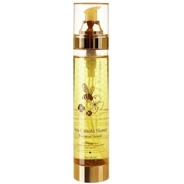 The Yeon Jeju Canola Honey Essential SerumЭта мультифункциональная сыворотка входит в линию продуктов Jeju Canola Honey от The Yeon, которая создана на основе меда канолы. Она содержит рапсовый мед в 42-процентной концентрации, что придает ей отличные тонизирующие, увлажняющие и укрепляющие свойства.<br>Essential Serum способствует нормализации жирового баланса кожи, приданию тонуса увядающей коже, наполнению клеток влагой и полезными веществами.<br>Рапсовый мед является биосовместимым веществом с кожей человека. Он богат витаминами, минералами и другими ценными микроэлементами. Имея способность проникать в глубокие слои эпидермиса, вещество заряжает клетки кожи энергией изнутри и активизирует клеточное обновление и дыхание.<br>Фруктовые и растительные экстракты усиливают омолаживающее и лечебное воздействие сыворотки.Объём: 200 мл.Способ применения:Наносить на кожу после ее очищения мягкими мяссажными движениями.<br>