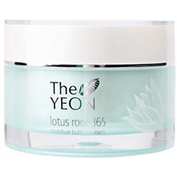 The Yeon Lotus Roots  Moisture Bubble CreamНевесомое увлажняющее средство для интенсивного увлажнения кожи от корейского производителя натуральной косметики The Yeon принадлежит линии продуктов Lotus Roots 365, которая изготавливается на основе вытяжки корня лотоса и оказывает великолепное увлажняющее, выравнивающее и разглаживающее действие.<br>Moisture Bubble Cream имеет гелеобразную консистенцию, за счет чего он моментально впитывается, не оставляя после себя ощущения жирности. Он не вызывает аллергической реакции и раздражений даже на чувствительной коже.<br>Продукт содержит 30-процентную концентрацию вытяжки корня лотоса, которая способствует интенсивному увлажнению, осветлению пигментации, активизации кровообращения и приданию коже молодости, свежести и мягкости. Помимо этого, он успокаивает раздраженную кожу, возвращая ей здоровый и ровный оттенок.<br>Масло ши способствует полноценному питанию кожи, гиалуроновая кислота обеспечивает длительное увлажнение, ниацинамид – отбеливает пигментные пятна, а аденозин омолаживает кожу, придает упругость и разглаживает морщинки.Объём: 50 мл.Способ применения:Наносить на кожу после процессов очищения и тонизирования, распределить массажными движениями.<br>
