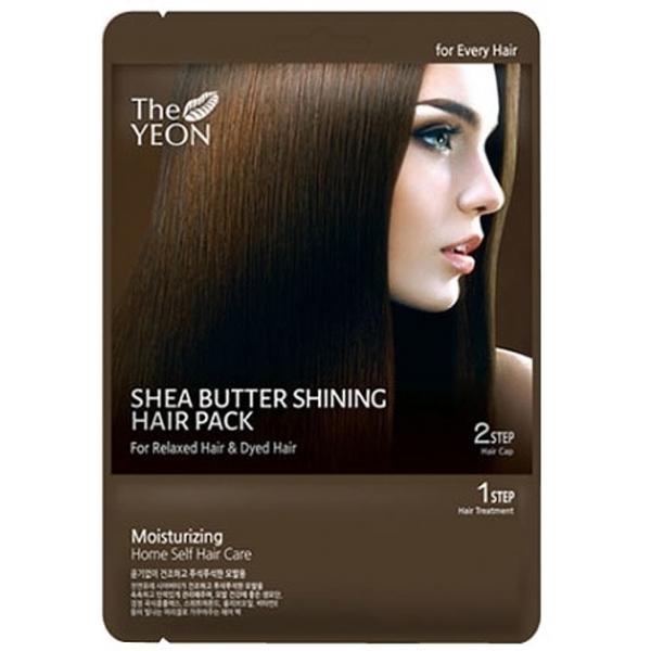 The Yeon Shea butter shining hair packОдноразовая маска для глубокого восстановления поврежденных волос от корейского косметического бренда The Yeon поможет избавиться от проблем сухости, тусклости, ломкости и сечения волос на длительное время.<br>Shea butter shining hair pack выполнена в удобной одноразовой упаковке, которую можно взять с собой в поездку или использовать в домашних условиях.<br>В составе продукта ценное масло ши, а также натуральный растительный комплекс, используемый в традиционной китайской медицине, вытяжки бобовых, а также витамин Е.<br>Маска способна за одно применение наполнить волосы жизненной силой, насыщенным оттенком, восстановить их структуру, укрепить волосяные фолликулы, а также придать волосам надежную защиту от губительного воздействия на них окружающей среды. Она способствует повышению эластичности волос, избавляя их от ломкости и сечения, придает волосам послушность и разглаживает их по всей длине.Объём: 20 гр.Способ применения:Наносить на чистые слегка высушенные волосы по всей их длине, после чего надеть специальную шапочку и держать 30-60 минут. После процедуры смыть все при помощи теплой воды.<br>
