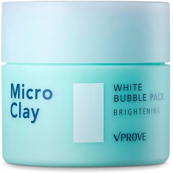 Vprove Micro Clay White Bubble Pack BrighteningОчищающая маска от корейского бренда Vprove не похожа ни на одно средство на основе глины, которые вы встречали раньше. Секрет ее уникальной очищающей способности заключается в текстуре, которую составляет множество микропузырьков. При нанесении на кожу они попадают глубоко в поры, доставляя полезные компоненты в дерму и облегчая их усвоение. Вместе с тем черная глина &amp;ndash; главный компонент маски &amp;ndash; вытягивает ежедневные загрязнения и растворяет сальные пробки. Уже после нескольких применений поры заметно уменьшаются, нормализуется работы сальных желез и матирующая пудра вам необходима гораздо реже, чем обычно.<br><br>Другие компоненты средства:<br><br><br>цветочные экстракты жасмина и дамасской розы для тонизирования кожи и улучшения лимфооттока;<br>семена чиа, успокаивающие раздраженную гиперреактивную кожу;<br>портулак, который снижает ежедневный стресс кожи от воздействия ультрафиолета солнечных лучей.<br><br><br>&amp;nbsp;<br><br>Объём: 70 мл.<br><br>&amp;nbsp;<br><br>Способ применения:<br><br>Наберите пальцами немного средства и старательно вмассируйте его в кожу легкими похлопываниями. Текстура маски очень легкая, но вместе с тем упругая, как у сладкой ваты, движениями пальцев нужно как бы вбить ее в поры, стараясь не прикасаться к коже. Выдержите 10-15 минут и смойте средство. Использовать для пролонгированного результата рекомендуется три раза в неделю.<br>