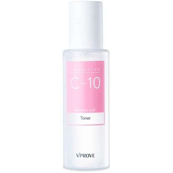 Vprove Sensitive C Mild Daily Care TonerСухость – распространенная реакция гиперчувствительной кожи на состав косметических средств, жесткую воду для умывания, пылевые и химические загрязнения воздуха. Вернуть шелушащейся и тусклой коже свежесть поможет тонер для ежедневного увлажнения на основе гипоаллергенных компонентов.<br>Главное действующее вещество тонера – пантенол, который проникает глубоко в дерму и удерживает в ней влагу. Поэтому сразу после применения кожа выглядит подтянутой и упругой, небольшие морщинки разглаживаются, а шелушения при регулярном использовании пропадают и больше не появляются. Увлажнение пролонгированное, так что достаточно утром нанести тонер, чтобы избавиться от дискомфортных ощущений стянутости и зуда на весь день.Объём: 100 мл.Способ применения:Тонер наносят чистыми ладонями на кожу лица и шеи сразу после умывания. Приложите ладони с нанесенным на них средством к щекам и ко лбу на пару секунд, чтобы под воздействием тепла рук компоненты впитались в кожу. Подушечками пальцев повторно нанесите тонер на участки, склонные к сухости – вокруг рта и глаз, периферия лица и шея.<br>