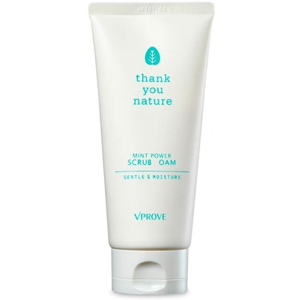Vprove Thank You Nature Mint Power Scrub Foam Gentle And Moisture