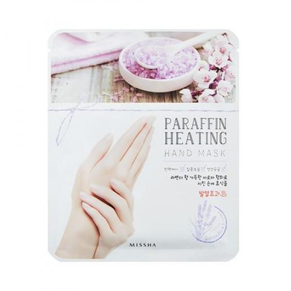 Missha Paraffin Heating Hand MaskДанная маска позволит сделать ухоженной даже самую сухую и обветренную кожу рук. Изготовленная в форме перчаток, пропитанных коктейлем из полезных веществ, она позволит сделать каждой девушке интенсивную ухаживающую процедуру для кожи рук в домашних условиях. Секрет эффективности представленного продукта &amp;ndash; содержание в нем парафина. Парафин при контакте с кожей начинает таять, нагреваться, что способствует интенсивному впитыванию других полезных компонентов маски в глубины слоев эпидермиса. При этом сам парафин остается на поверхности кожи, запирая полезные вещества изнутри и образуя защитную пленку, что будет служить эффективным барьером при воздействии с различными отрицательными условиями окружающей среды. Пропитка перчаток также содержит такие полезные компоненты, как коллаген, кератин, гиалуроновая кислота, масла имбиря и оливы. Коллаген эффективно укрепляет кожу рук, делая ее гладкой и упругой. Кератин наполняет поврежденные участки эпидермиса, а также интенсивно укрепляет ногти, предупреждая их ломкость. Гиалуроновая кислота является известным увлажняющим ингредиентом, который насыщает даже самые глубочайшие слои кожи необходимой влагой на длительное время. Масла имбиря и оливы великолепно напитывают, смягчают и увлажняют кожу, побеждая сухость и образование шелушений. Регулярное применение данной маски позволит забыть о ключевых проблемах кожи рук и сделать ее ухоженной и красивой. Побалуйте свои ручки роскошным салонным уходом, используя маску Paraffin Heating Hand Mask от корейского производителя Missha!<br><br>&amp;nbsp;<br><br>Объём: 20 гр.<br><br>&amp;nbsp;<br><br>Способ применения:<br><br>Перчатки, пропитанные маской, следует надеть на руки и оставить для воздействия на 20 минут. Затем перчатки следует снять, а остатки маски распределить массирующими аккуратными движениями.<br>
