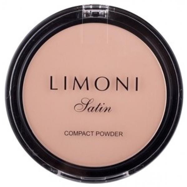 Пудра компактная Limoni Satin Powder PactПрофессиональные, очень натуральные и податливые пудры Limoni заслуженно завоевали популярность на мировом рынке. Серия Satin - одна из самых популярных линеек декоративных средств молодой итальянской компании. Она предназначена для естественного макияжа<br><br>Эта пудра оказывает очень деликатное, но эффективное действие. Благодаря повышенному содержанию пигментов она идеально сливается с кожей, маскирует недостатки и мелкие морщинки, заполняет, но не забивается в порах. Легкая текстура позволяет коже дышать, оказывает матирующий эффект и дарит лицу здоровое привлекательное сияние.<br><br>Входящие в состав природные компоненты и экстракты оказывают не только маскирующий, но и оздоравливающий эффект. Кожа увлажняется, наполняется кислородом и надежно оберегается от внешнего негативного воздействия. Формула средства гипоаллергенная и подходит любому типу кожи. Устойчивые пигменты надежно сцепляются с кожей и держат макияж в течение всего дня, оставляя эффект только что нанесенной пудры.<br><br>&amp;nbsp;<br><br>Объём: 10 гр.<br><br>&amp;nbsp;<br><br>Способ применения:<br><br>Нанести спонжем на лицо и шею завершающим этапом, слегка растушевать<br>
