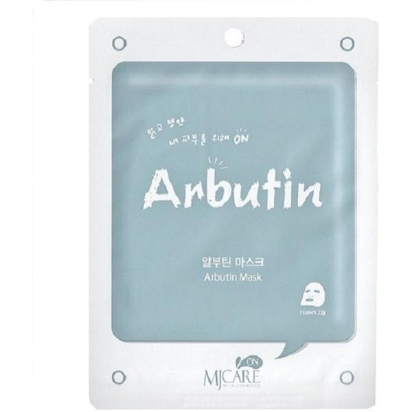 Арбутиновая омолаживающая маска Mijin Cosmetics MJ CARE Arbutin MaskАрбутин &amp;ndash; один из самых популярных антиэйдж-компонентов ухаживающей косметики. Маска с арбутином осветляет кожу от пигментации, поскольку арбутин контролирует активность меланоцитов, выравнивает тон и рельеф кожи.<br><br>Кроме арбутина в составе Arbutin Mask от Mijin Cosmetics комплекс растительных экстрактов алоэ, портулака и гамамелиса, натуральный увлажнитель тканей кожи &amp;ndash; гиалуроновая кислота, а также аллантоин &amp;ndash; стимулятор роста клеток. Бетаин в составе арбутиновой омолаживающей маски повышает растворимость водных экстрактов растительных компонентов и успокаивает кожу после раздражений. Гаммамелис усиливает микроциркуляцию и стимулирует кислородный обмен в тканях<br><br>После применения маски лицо обретает здоровый цвет, мягкое сияние и нежный румянец. Пигментные пятна и постакне бледнеют, кожа становится мягкой на ощупьь.<br><br>&amp;nbsp;<br><br>Объём: 24 мл<br><br>&amp;nbsp;<br><br>Способ применения:<br><br>Расправить маску и приложить ее к коже, тщательно разгладив каждую складочку. Обратите особое внимание на нежную кожу вокруг губ и глаз &amp;ndash; материя с арбутиновой пропиткой должна покрывать все чувствительные участки кожи, чтобы смягчить ее и снять раздражения. Через пятнадцать минут тканевую маску можно снять с лица, а эссенцию оставить до полного впитывания.<br>