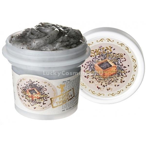 Skinfood Black Sesame Hot MaskТеплая кунжутная маска Black Sesame Hot Mask от Skinfood оказывает термальный эффект на кожу, проникает глубоко в ее поры и выводит на поверхность все загрязнения.<br><br>Частицы черного кунжута, жерной соли и сахарного песка способствуют тщательному очищению и полировке поверхности кожи, а входящие в состав питающие компоненты оказывают видимое смягчающее, успокаивающее и разглаживающее действие. Маска подходит для применения на коже любого типа, но так как она содержит в себе множество скрабящих частиц, не рекомендуется е ежедневное применение, особенно на чувствительной коже.<br><br>Сбалансированный состав маски обеспечивает коже необходимое увлажнение, питание, восстановление, легкий тепловой эффект активизирует микроциркуляцию крови, тонизирует и обновляет структуру кожи. Помимо полезных свойств, маска обладает приятным, ненавязчивым запахом. Даже после кратковременного использования теплой маски вы ощутите видимые различия состояния кожи до и после применения продукта.<br><br>Маска уложена в объемную банку, из которой легко ее извлекать. Большой объем и экономичное использование, обеспечат длительную службу косметического средства.<br><br>&amp;nbsp;<br><br>Объём: 150 г.<br><br>&amp;nbsp;<br><br>Способ применения:<br><br><br>На очищенное и влажное лицо, нанесите теплую маску средним слоем.<br>Избегайте попадания средства на зону вокруг глаз и губ.<br>Помассируйте лицо 1-2 минуты, не прилагая особых усилий.<br>Особое внимание уделяйте сухим и шелушащимся участкам кожи.<br>Продержите маску на ице в течение еще 3-5 минут, затем смойте теплой водой.<br>После подобного очищения, любая наносимая увлажняющая, питательная маска, крем, а также другие похожие средства, окажут более активное действие, так как на очищенной коже, состав средства имеет возможность проникнуть в более глубокие слои кожи.<br>