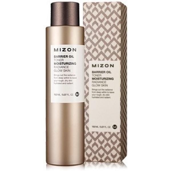 Mizon Intensive Skin Barrier Oil TonerСухая и обезвоженная кожа очень уязвима к действию различных негативных факторов, поэтому ей необходим эффективный защитный уход! Прекрасным представителем подобных средств является этот тонер, укрепляющий собственный иммунитет кожи. Такое положительное действие становится реальным благодаря уникальнейшему составу продукта, включающему полезные компоненты. Тонер включает в свое содержание гиалуроновую кислоту, аденозин, экстракт какао и церамиды. Гиалуроновая кислота суперинтенсивно увлажняет эпидермис, разглаживая имеющиеся мелкие морщинки. Вытяжка какао имеет антиоксидантное и витаминизирующее действие. Церамиды и аденозин укрепляют эпидермис на клеточном уровне, а также возвращают ему тонус и оказывают восстанавливающее действие. Тонер имеет комфортную маслянистую консистенцию, благодаря чему он оказывает скорейший смягчающий эффект, и при этом, гарантирует отсутствие неприятной пленки. Применение этого средства позволяет также увеличить эффективность последующего ухода. Сохраните вашу красоту и молодость, а также забудьте о стянутости и сухости кожи, применяя этот тонер от марки Mizon!<br><br>&amp;nbsp;<br><br>Объём: 150 мл<br><br>&amp;nbsp;<br><br>Способ применения:<br><br>Тонер рекомендуется наносить на сухую кожу 2 раза в день сразу после ее очищения.<br>