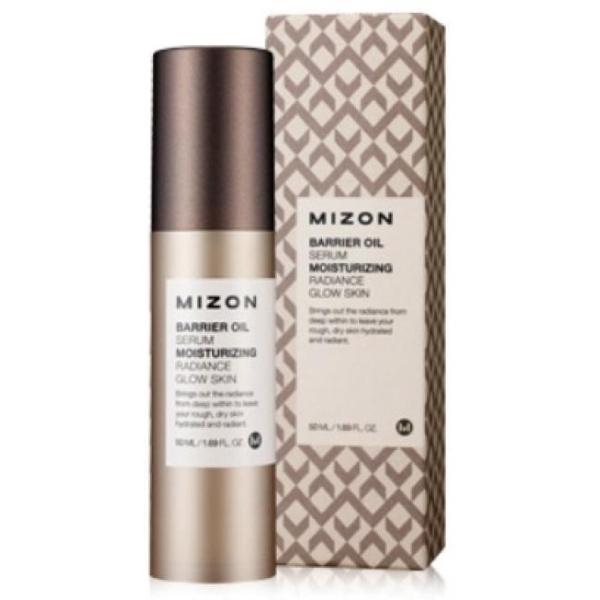 Сыворотка для лица укрепляющая Mizon Intensive Skin Barrier Oil SerumДанная сыворотка предназначена для ультраинтенсивного ухода за сухой, обезвоженной и нормальной кожей. Продукт обладает удивительной маслянистой текстурой, в результате чего его нанесение дарит коже мгновенный комфорт и мягкость, а отсутствие неприятной пленки делает его очень приятным в применении. Уникальным свойством этого средства является повышение иммунитета кожи к действию различных негативных факторов. В состав сыворотки включены вытяжка какао, аденозин, церамиды, а также гиалуроновая кислота. Вытяжка какао оказывает витаминизирующее и антиоксидантное действие на эпидермис. Церамиды и аденозин восстанавливают кожу как изнутри, так и снаружи, а также укрепляют лицевые контуры. Наличие в составе сыворотки гиалуроновой кислоты наделяет ее высокими увлажняющими, а также антивозрастными свойствами, что позволяет подарить коже гладкость, а также устранить присутствующие морщинки и предотвратить риск их дальнейшего появления. Курс применения данного средства позволит оказать комплексный положительный эффект на кожу, а также защитить ее от отрицательного воздействия солнца, холодной погоды, табака, техногенного воздействия и многого другого. Сохраните здоровый, молодой и ухоженный вид вашей кожи, применяя эту сыворотку от марки Mizon!<br><br>&amp;nbsp;<br><br>Объём: 50 мл<br><br>&amp;nbsp;<br><br>Способ применения:<br><br>Средство рекомендуется применять на сухой коже лица после очищения, нанося его в малом количестве.<br>