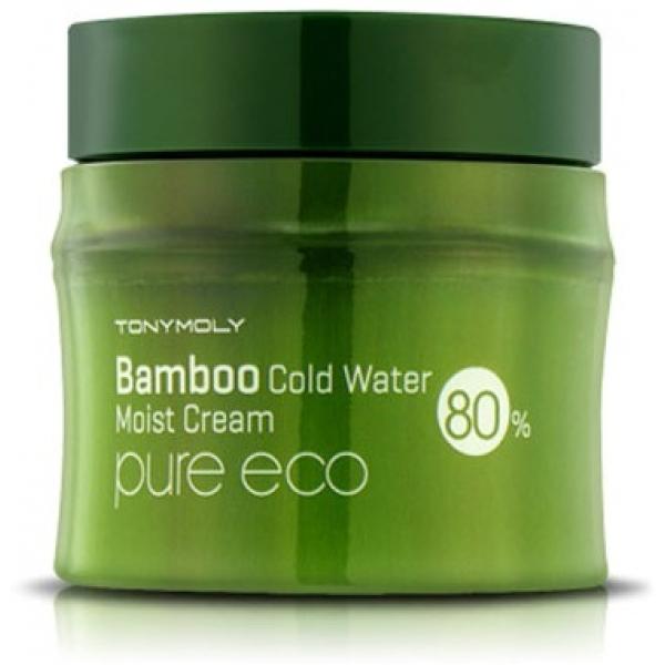 Tony Moly Pure Eco Bamboo Icy Water Moisture CreamБамбук &amp;ndash; это настоящее чудо природы. Это субтропическое растение применяется человеком во многих сферах его жизни, не исключение и косметология. Bamboo Icy Water Moisture Cream средство от компанииTony Moly из серии Pure Eco &amp;ndash; это очень хорошее решение для сухой кожи, нуждающейся в питании.<br><br>Этот крем на 80 % состоит из целебного экстракта бамбука. Он направленно воздействует на клетки сухой кожи и наполняет их влагой, а также помогает начать синтезировать собственный коллаген. Весь секрет &amp;ndash; в содержании в бамбуковой вытяжке кремния. Он и становится тем катализатором, который запускает реакцию синтеза коллагена кожей. Таким образом можно сказать, что кожа становится упругой, подтянутой и более молодой.<br><br>Увлажнение обеспечивается за счет способности бамбука удерживать внутри кожи влагу. Он не дает ей испаряться наружу, а значит, чувство комфорта не оставит вас целый день.<br><br>Кроме того, бамбуковый экстракт помогает в борьбе с куперозом. Он усиливает стенки сосудов и бережет их от ломкости, что является и отличной профилактикой этой болезни.<br><br>При помощи крема с бамбуковым экстрактом сухой, увядающей коже можно вернуть тонус и здоровье. Воспользуйтесь же этой возможностью.<br><br>&amp;nbsp;<br><br>Объём: 80 мл<br><br>&amp;nbsp;<br><br>Способ применения:<br><br>Нанесите крем на тонизированную кожу и помассируйте ее. Можно использовать также для шеи и зоны декольте.<br>