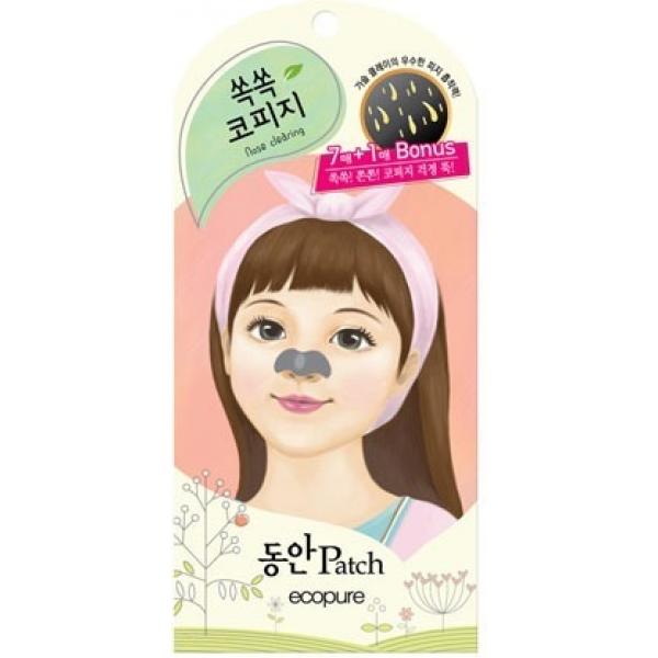 Ecopure Nose Clearing PatchЭтот пластырь представляет собой настоящую находку для тех девушек, которым знакомы проблемы наличия черных точек на носу. Средство весьма удобно в применении, а также отличается высокой эффективностью, что позволит всего за несколько минут устранить загрязнения, оставляя ваш носик чистым и матовым. В состав этого пластыря включены такие компоненты, как активированный уголь, ментол, а также тимьян. Активированный уголь оказывает адсорбирующее действие, растворяя глубокие загрязнения, а также регулируя выработку кожного себума. Вытяжки ментола и тимьяна обладают поросужающим эффектом, а также нормализируют кожное дыхание. Применение такого пластыря не оставит и следа от черных точек на носу, придавая вашей коже такой красивый и ухоженный вид. Чистая и здоровая кожа &amp;ndash; это так легко, благодаря применению этого пластыря от корейского бренда Ecopure!<br><br>&amp;nbsp;<br><br>Объём: 1 шт<br><br>&amp;nbsp;<br><br>Способ применения:<br><br>Средство необходимо применять на очищенном лице следующим образом: намочите область носа водой, а после плотно наклейте на него пластырь, оставив его для работы на 20 минут. К окончанию срока продукт требуется удалить одним резким движением.<br>