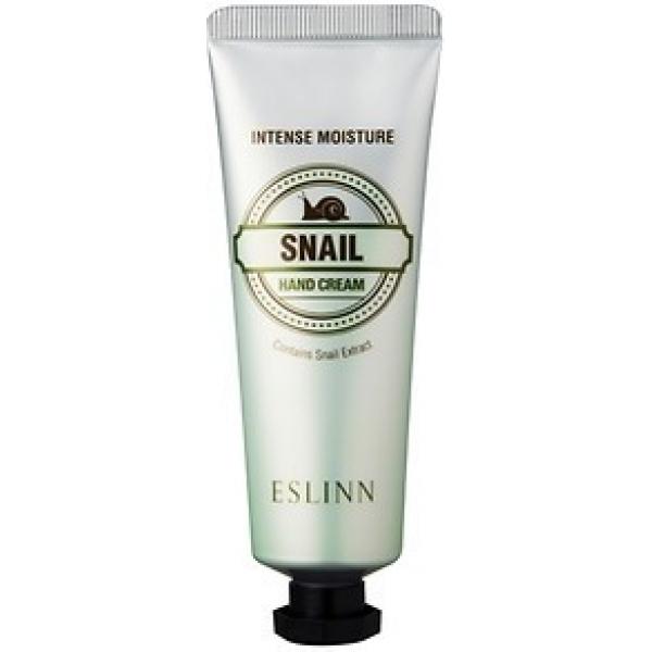 Enprani Eslin Intense Moisture Snail Hand CreamСредство позволяет защитить кожу от повреждений УФ-лучами, замедляет процессы старения кожи. Слизь улитки, которая входит в состав крема, имеет свойства природного антиоксиданта.<br>Всем известно также, что муцин ускоряет заживление ран и микротрещин, восстанавливает упругость кожного покрова, защищает кожу от проникновения бактерий и инфекций.<br>Экстракт наделяет кожу минералами, антимикробными пептидами и антиоксидантами. Способствует обновлению кожи на клеточном уровне.Объём: 50 млСпособ применения:Крем наносится на кожу рук путём массажа до полного впитывания.<br>
