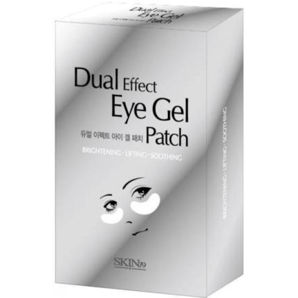 Skin Dual Effect Eye Gel PatchМультифункциональные патчи из серии Dual Effect от Skin79 с охлаждающим эффектом снимут отечность и темные круги под глазами. В их составе содержится много полезных для кожи веществ - коллоидное золото, эктракт красной икры, морской коллаген, а также гиалуроновая кислота. Все они способствуют глубокому увлажнению и питанию кожи глаз и разглаживанию мелких морщинок. В итоге вы получите сияющую, напитанную, увлажненную кожу.Объём: 3 млСпособ применения:На предварительно очищенную и увлажненную кожу под глазами нанести патчи на 20-30 мин. После снятия патчей вбейте остатки полезного раствора  в кожу.<br>