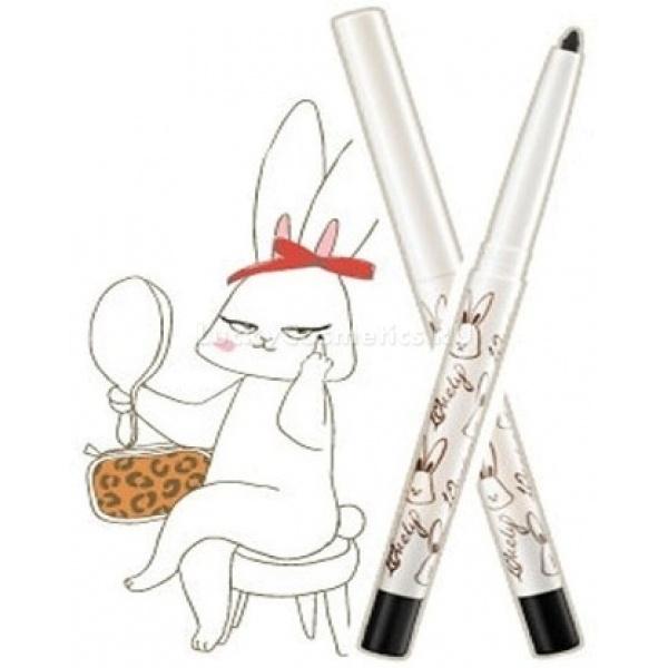 Mizon Lovely Love Me Pencil Eye LinerСтойкая черная подводка с милашкой кроликом на упаковке не оставит равнодушным ни одно девичье сердце. Идеально подходит для создания красивых, ровных стрелок. Нежная текстура карандаша не травмирует кожу век, а влаго-, пото- и жароустойчивая формула позволит вам наслаждаться четкими стрелками весь день! В карандаше-подводке Lovely Love Me Pencil Eye Liner вы найдете встроенную точилку, и в любой непредвиденной ситуации сможете блеснуть эффектными идеальными стрелками!<br><br>Способ применения: нанесите подводку по линии роста ресниц, придав стрелке желаемую форму.<br>&amp;nbsp;<br>