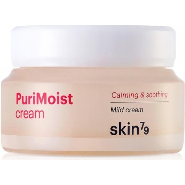 Skin Purimoist CreamУвлажняющий питательный крем от Skin79 под названием Purimoist Cream содержит только растительные компоненты, включая экстракт эхинацеи, и помогает надолго устранить сухость кожи. Он оказывает комплексное действие и образует на поверхности кожи защитный слой, препятствующий негативному воздействию внешней среды. С его помощью можно восстановить баланс влаги и предотвратить обезвоживание.<br>Растительный компонент эхинацеи помогает ликвидировать мелкие морщинки, убрать шелушение и воспалительные элементы, стимулирует регенерацию клеток. Он тормозит распад веществ гиалуроновой кислоты и оказывает омолаживающее действие. В составе средства находятся и другие активные компоненты, включая экстракт стевии, дающий интенсивный тонизирующий и противовоспалительный эффект. С помощью крема можно предотвратить образование ранних морщин и заметно улучшить состояние кожи.Объём: 55 мл.Способ применения:Средство наносят на очищенную и сухую кожу сразу после тонера в качестве ежедневного ухода, он придает естественную матовость и сияние, выравнивает тон, а также глубоко увлажняет. Крем помогает улучшить состояние кожи, делает ее более нежной, мягкой, упругой и эластичной в процессе постоянного использования.<br>