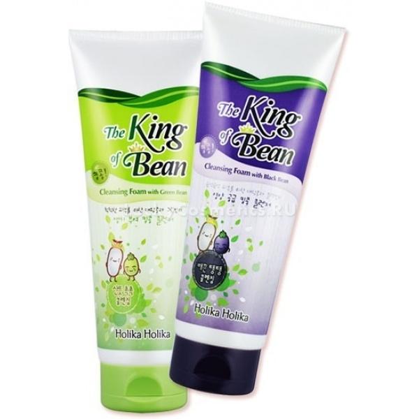 Holika Holika King Of The Beans Foam Cleansing with BlackbeanПенка для умывания мягко очищает кожу, а содержащийся в ней экстракт черных бобов придает коже дополнительную упругость и делает ее более подтянутой. Пузырьки средства, обогащенные витаминами и полезными веществами, не только очищают кожу, но также тонизируют и питают ее. Экстракт черных бобов обладает детокс-свойством, поэтому быстро приводит лицо в отличное состояние.Объём: 300 млСпособ применения:Выдавите немного пенки из тюбика, вспеньте в руках. Полученную пену нанесите на лицо массирующими движениями. Смойте средство теплой водой.<br>