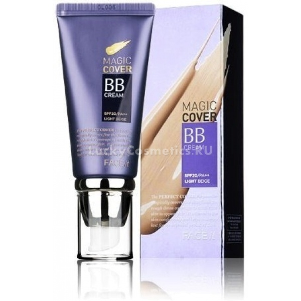 Универсальный ББ крем с плотным покрытием The Face Shop Face it magic cover BB cream SPF20