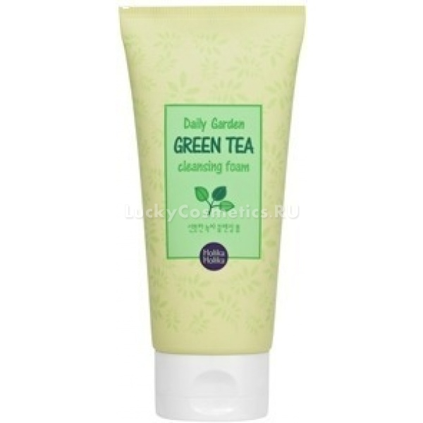 Holika Holika Daily Garden Green Tea Cleansing FoamПенка для умывания с экстрактом зеленого чая подойдет обладательницам проблемной кожи и кожи, склонной к угревой сыпи. Это средство проникает глубоко в поры, очищает их и стягивает, контролирует выработку кожного жира. Подсушивает прыщи и снимает раздражение.<br><br>Экстракт зеленого чая питает и защищает кожу, помогает поддерживать водный баланс. После применения пенки с нежным тонким травяным ароматом лицо приобретает ухоженный и здоровый вид без блеска. При регулярном использовании значительно снижается вероятность появления прыщей, воспалений и угревой сыпи. Подходит для каждодневного использования, гипоаллергенен.Объём: 120 млСпособ применения:Небольшое количество пенки нанести на влажные руки или на губку для лица, вспенить. Умыться, остатки средства удалить с лица теплой водой.<br>