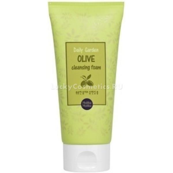 Holika Holika Daily Garden Olive Cleansing FoamЭта пенка нежно очищает кожу лица день за днем, не вызывая чувства сухости и стянутости. Комплекс растительных экстрактов защищает кожу от потери влаги, восстанавливает водный баланс, смягчает, масло оливы эффективно питает истощенную кожу.<br><br>&amp;nbsp;<br><br>Объём: 120 мл<br><br>&amp;nbsp;<br><br>Способ применения:<br><br>Нанесите очищающую пенку на влажную кожу лица, вспеньте, помассируйте лицо. Смойте средство водой.<br>