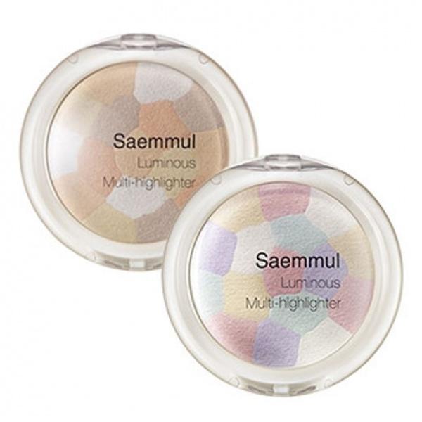 The Saem Saemmul Luminous Multi HighlighterЭтот продукт позволит придать лицу деликатное и ухоженное сияние. Нанесенный на выступающие участки лица, а также ключицы, хайлайтер визуально корректирует овал, делает его более привлекательным, а общий образ более ухоженным и эффектным. Продукт очень удобен в применении, поскольку имеет мелкий помол, что гарантирует его равномерное нанесение в качестве вуали. Хайлайтер выполнен в форме мозаики, в которую включены 4 оттенка натуральных светлых оттенка, образующие при смешивании бежево-золотистый сияющий цвет, идеально подходящий для любого оттенка кожи. Продукт имеет высокую пигментацию и прекрасный уровень стойкости, что позволяет получить необходимый результат в одно касание кисти и гарантирует его сохранение в течение всего дня. Воспользовавшись хайлайтером Saemmul Luminous Multi Highlighter, вы точно не останетесь незамеченной!<br><br>&amp;nbsp;<br><br>Объём: 8 гр<br><br>&amp;nbsp;<br><br>Способ применения:<br><br>Продукт следует наносить при помощи кисти на отдельные участки лица, а также ключицы.<br>