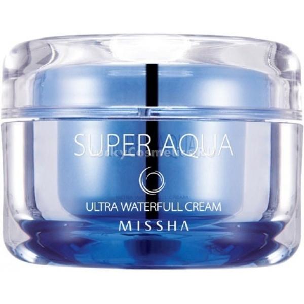 Missha Super Aqua Waterfull Ultra CreamЕжедневное интенсивное увлажнение обеспечит вам крем из серии Super Aqua Waterfull Ultra Cream от бренда Missha. С его помощью предотвращается обезвоживание кожи, особенно опасное при постоянном воздействии жары.<br><br>Сок софоры японской и антарктицин, смешанные на основе ледниковой воды, закрепляют влагу, создавая эффект охлаждения кожи. Экстракт листьев баобаба регулирует работу сальных желез, а отсутствие в креме жиросодержащих компонентов позволяют избавить лицо от лоснящегося блеска, делая его матово-нежным в любое время года.<br><br>Благодаря созданию защитного барьера и сужению пор уменьшается испарение влаги, кожа становится более гладкой и упругой на весь следующий день. Крем особенно рекомендован к применению при сильной сухости воздуха.<br><br>Объём: 47 мл.<br><br>Способ применения:<br><br>Процедуру увлажнения лица с помощью этого крема лучше всего проводить в конце ухаживающих процедур. Ежедневно на ночь наносите крем на кожу и распределяйте по всему лицу, прихлопывая его подушечками пальцев до полного впитывания. После этого не требуются дополнительные умывания.<br><br>&amp;nbsp;<br><br>Объём: 47 мл<br><br>&amp;nbsp;<br><br>Способ применения:<br><br>Процедуру увлажнения лица с помощью этого крема лучше всего проводить в конце ухаживающих процедур. Ежедневно на ночь наносите крем на кожу и распределяйте по всему лицу, прихлопывая его подушечками пальцев до полного впитывания. После этого не требуются дополнительные умывания.<br>
