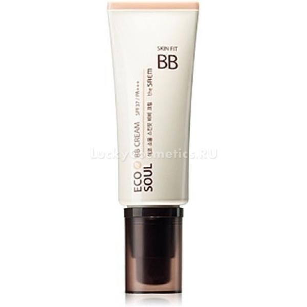 The Saem Eco Soul Skin Fit BB CreamВосстанавливающий, отбеливающий крем-комфорт The Saem Eco Soul Skin Fit с солнцезащитным фактором SPF 37 PA++  - истинная находка для тех, кто стремится получить сияющий, ровный, здоровый цвет лица, заботясь при этом о максимальной защите и питании кожи.<br>Крем создан на основе природных компонентов: жемчужный порошок устраняет избыточный блеск; растительные экстракты, аминокислоты шелка и арбутин выравнивают глубокий слой эпидермиса, снимают раздражение и успокаивают чувствительную кожу, а также способствуют  усиленной регенерации.<br>Благодаря высокому солнцезащитному фактору крем препятствует образованию пигментных пятен и веснушек в солнечное время года и осветляет уже имеющиеся.<br>Не содержит:<br>минеральное масло<br>сульфаты<br>бензофенон<br>продукты животного происхожденияОбъём: 40 млСпособ применения:Достаточное количество крема мягко распределите по всему лицу, чтобы выровнять тон кожи, либо нанесите на отдельные участки, где это необходимо.<br>