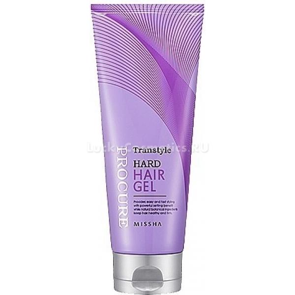 Missha Procure Transtyle Hard Hair GelФиксирующий гель не только поможет вам сделать акценты в прически и эффектно выделить локоны, но и защитит их от ежедневных стрессов &amp;ndash; с этим средством волосам не страшен ветер, солнечное излучение, механические повреждения от заколок и резинок для волос.<br><br>Гель делает цвет волос более выразительным, подчеркивает их блеск, делает их более плотными и эластичными, предотвращает истончение и ломкость кончиков.<br><br>&amp;nbsp;<br><br>Объём: 130 мл<br><br>&amp;nbsp;<br><br>Способ применения:<br><br>Гель используют для создания укладки, в которой необходима сильная фиксация. Так, чтобы выровнять и уложить в аккуратную прическу вьющиеся волосы гель распределяют по влажным прядям. Зафиксировать отдельные локоны можно при нанесении небольшого количества геля на сухие волосы, сухая укладка гелем также используется для создания легкой небрежности прически.<br>