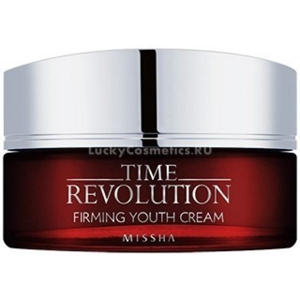 Missha Time Revolution Firming Youth CreamКрем Firming Youth Cream на основе комплекса натуральных компонентов, в числе которых встречаются такие характерные для восточной медицины и косметологии как гриб майтаке, экстракт лотоса, изготовлен по технологии ферментации. Это обогащает средство витаминами и минералами в биологически доступной форме. Поэтому крем Missha хорошо усваивается кожей и начинает действовать с первого же нанесения.<br>Гриб майтаке или танцующий гриб – популярное лечебное средство, которое оказывает комплексное действие на организм. Свое второе название он получил из-за того, что наткнувшись на дикорастущий майтаке в лесу, люди пускались в пляс. По поверью, ритуальный танец усиливал целебные свойства гриба. А в древние времена в Китае счастливым обладателям такой находки давали серебра по весу мэйтаке. Снабжает кожу аминокислотами и полисахаридами, повышая ее устойчивость к патогенным микробам.<br>Другие полезные компоненты укрепляющего крема – лайм, апельсиновое масло, лаванда и ромашка – оказывают смягчающее действие, обеспечивают дополнительное увлажнение и защиту от фотостарения.Объём: 70 млСпособ применения:Нанести равномерным тонким слоем на лицо поверх увлажняющих и уходовых средств более легкой текстуры, как тонер или эмульсия.<br>