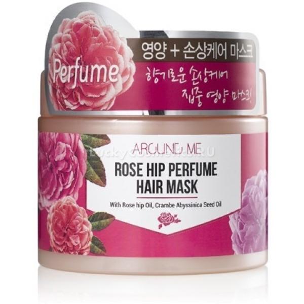 Welcos Around Me Rose Hip Perfume Hair MaskВернуть тонким и слабым волосам природную красоту и сияние поможет ультра питательная маска линейки Around Me Rose от корейского бренда Welcos. Средство разработано на основе натурального масла шиповника&amp;nbsp;и обогащено ценными микроэлементами, которые способствуют восстановлению травмированных волос.<br><br>Perfume Hair Mask одарит Вас легким цветочным ароматом и позволит насладиться процессом лечения волос. Кроме того маска препятствует вымыванию цвета, усиливает блеск и сияние волос. Легкая тающая текстура средства мгновенно впитывается волосами и заполняет полые участки волос. Средство не оставляет липкости и жирности, не утяжеляет локоны. Питательная формула средства мгновенно питает сухие локоны, даря им упругость и гладкость. Уникальный растительный состав и натуральные компоненты активируют рост волосяных луковиц и дарят им здоровье. Создает на поверхности волос ультра тонкую дышащую пленку, которая предотвращает потерю цвета и влаги, защищает локоны от негативного влияния высоких температур и УФ - излучения.<br><br>&amp;nbsp;<br><br>Объём: 300 мл.<br><br>&amp;nbsp;<br><br>Способ применения:<br><br>На чистые мокрые волосы нанесите необходимое количество средства, распределяя по всей длине волос. Оставьте на 7 &amp;ndash; 9 минут, после чего промойте локоны теплой водой. Для лучшего действия средства рекомендуется надевать термошапочку.<br>