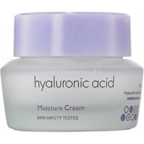 Its Skin Hyaluronic Acid Moisture CreamПорадуйте свою кожу идеальной гладкостью с новым средством от корейского бренда Its Skin. Продукт в составе с гиалуроновой кислотой, великолепно питает, увлажняет и устраняет несовершенства. Благодаря питательной формуле продукт обеспечивает максимально комфортные ощущения и обеспечивает клеткам надежную защиту. Кроме того, легкая текстура средства моментально впитывается и не оставляет жирных или липких следов. Создает на поверхности кожного покрова прочную воздухопроницаемую пленочку, которая предотвращает негативное влияние ультрафиолета, стрессов или холодного воздуха.<br>Гиалуроновая кислота обладает мощным регенерирующим действием, поддерживает оптимальный уровень влажности клеток и дарит коже гладкость и эластичность.<br>Экстракт голубики заполняет и выравнивает морщины, устраняет темные круги и отечность вокруг глаз, осветляет и выравнивает тон кожи, дарит ей сияние и бархатистость.<br>Экстракт гибискуса деликатно размягчает и удаляет ороговевшие клетки кожи, полирует и устраняет кожные несовершенства, усиливает клеточное дыхание и тонизирует.Объём: 50 мл.Способ применения:На предварительно очищенную кожу нанесите необходимое количество средства и распределите до полного впитывания. Может использоваться как основа под макияж.<br>