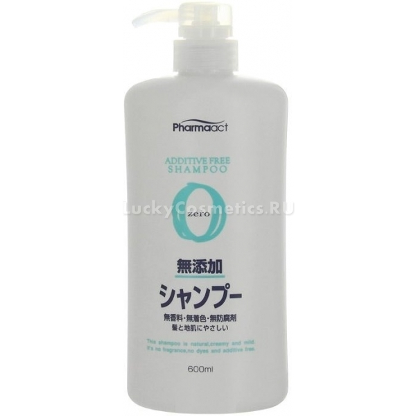Kumano Cosmetics Pharmaact Additive Free ShampooНатуральный шампунь от японского бренда Kumano – отличный пример качественной органической косметики. Он содержит только безопасные и растительные компоненты и обеспечивает бережный уход за волосами.<br>Additive Free Shampoo мягко удаляет загрязнения, успокаивает раздражения, борется с сухостью, оставляя ощущение свежести и чистоты. Отсутствие опасных и синтетических компонентов делает его лучшим средством для чувствительной кожи головы, а экстракты трав и эфирные масла укрепляют локоны по всей длине, не утяжеляя их.<br>Душистые масла розового дерева, лаванды и герани оказывают противовоспалительный эффект, питают структуру волоса, увлажняют кожу головы и стимулируют рост волос. Аминокислоты шелка и гиалуронат натрия заботятся о здоровье кожи и ускоряют процесс восстановления ткани.<br>Шампунь без отдушек и агрессивных химических ингредиентов прекрасно подойдет для ухода за поврежденными локонами, нуждающимися в нежном очищении. Средство не содержит силиконов и парабенов и может использоваться после процедуры кератинового восстановления.Объём: 600 мл.Способ применения:Вспеньте в руках шампунь, нанесите на влажные волосы, помассируйте и смойте. Повторите процедуру для полного очищения.<br>